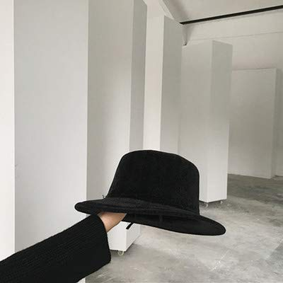 Wetietir Sports Hat Home Autumn and Winter Foldable English Suede Flat top Fashion  Hats Men and Women Retro Solid Color Wild Wide-Brimmed hat Jazz hat ... 7ee5a67f7c6a
