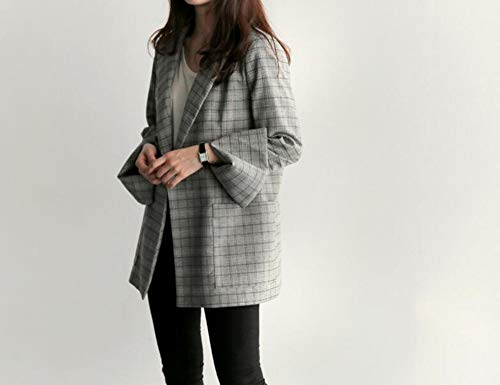 Blazer Para Abrigos Blazers Mujeres S De A Cinturón Mujer Con Cuadros Wjmm Y Oficina C4qFw5zSwx