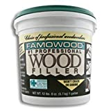 Famowood 40002126 Latex Wood Filler, Natural, One gallon by FamoWood