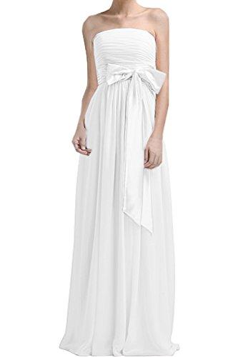 Missdressy - Vestido - plisado - para mujer Weiß