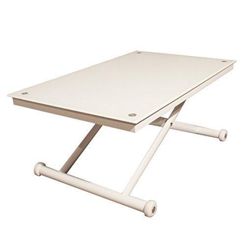 Rr Design – Höhenverstellbarer Tisch Glas Beistelltisch Wohnzimmer