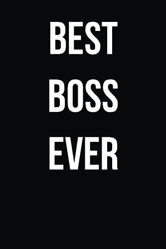 Download Best Boss Ever: Blank Lined Journal PDF