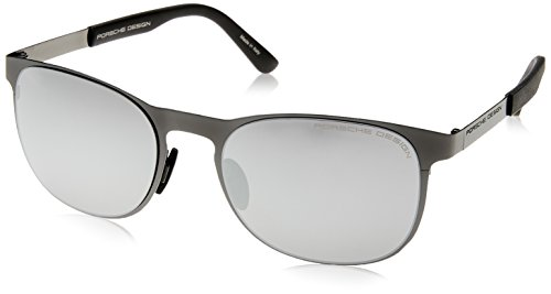 de mercury silver Lamer hombre A para completa Porsche Ø54 black matte mirrored sol Gafas SwZUv5