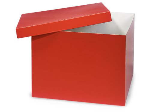 Red Hi-wall 12x12x9'' 100% Recycled Giftware Box Base (Unit Pack - 50) by Better crafts