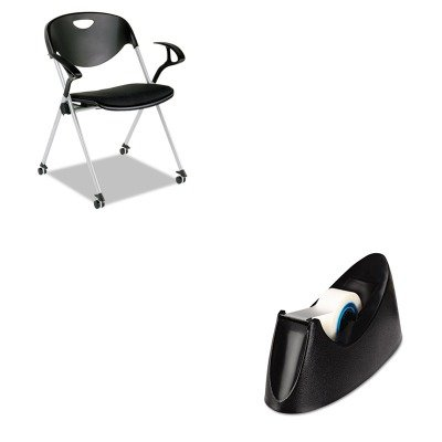KITAAPSL652UNV15001 - Value Kit - Best SL Series Nesting Stack Chair with Loop Arms and Casters (AAPSL652) and Universal Desktop Tape Dispenser (UNV15001) by Best