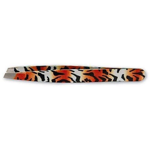 Satin Edge Spa Tools Slant Tip Tweezer Tiger Design by Satin Edge