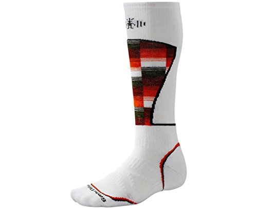 Smartwool Men's PhD Ski Medium Pattern Socks (White) Medium