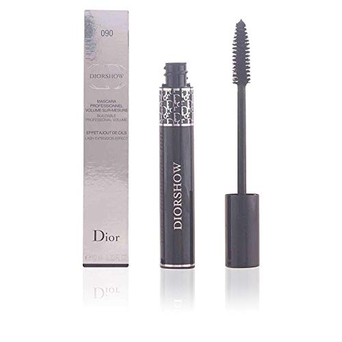 Christian Dior Diorshow Lash Extension Effect Volume Mascara for Women, 090/Pro Black, 0.33 Ounce