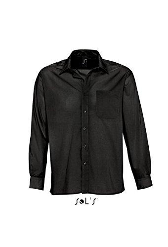 SOLs Baltimore Langarmhemd M,Black