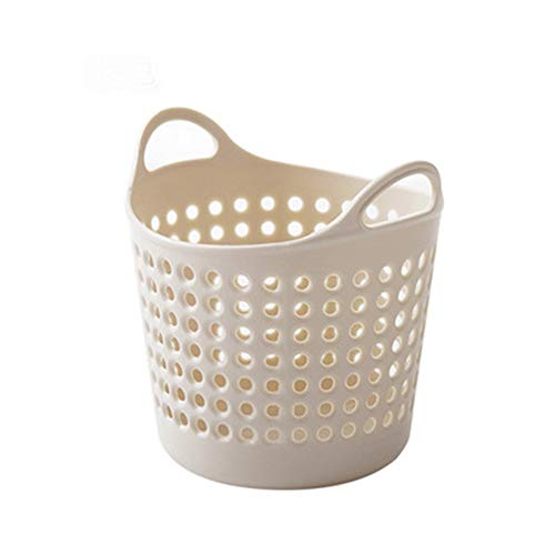 Euone  Receiving Basket Clearance , Mini Desktop Storage Trash Basket Creative Fashion Trash Can (Beige) -