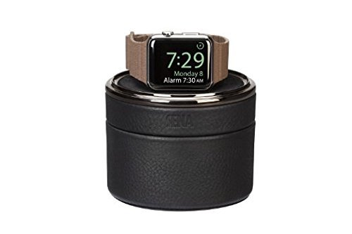 Travel Apple Leather Case (Apple Watch Case | Genuine Leather Apple Smart Watch Stand and Travel Case | by SENA)