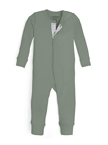 Colored Organics Unisex Baby Organic Cotton Emerson Sleeper - Long Sleeve Infant Coverall - Thyme Green - -
