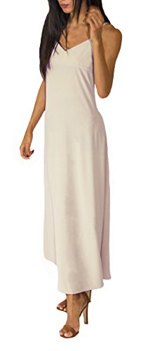 Cream Slip Dress - 9