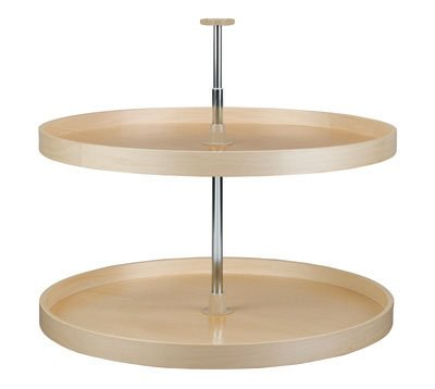 28in Full Circle Banded Wood Lazy Susan 2-Shelf Set by Rev-A-Shelf