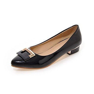Cómodo y elegante soporte de zapatos de las mujeres pisos verano/Pointed Toe Piel Exterior/Oficina y carrera/casual diseño con soporte de talón negro/rojo/ blanco