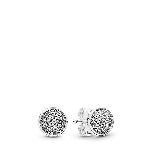 PANDORA Dazzling Droplets Stud Earrings, Sterling Silver, Clear Cubic Zirconia, One Size