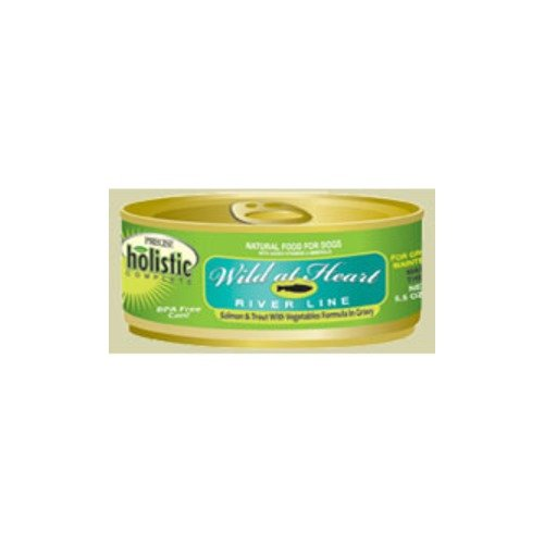 Precise Holistic Complete Wild at Heart River Line Salmon Trout Formula Canned Dog Food