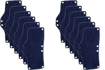 Occunomix Snap-On Hard Hat Sweatband, Beat the Heat, Blue, 6 Count (2-(Pack))