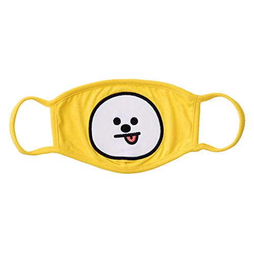 BT21 Official Merchandise by Line Friends - CHIMMY Character Unisex Cotton Face Anti Dust Mask for Breathing and Pollution