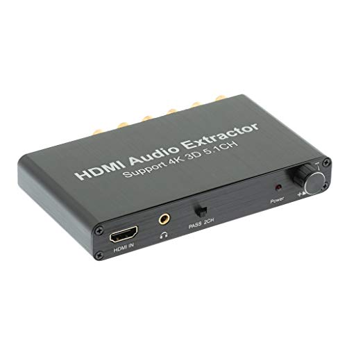 (kesoto HDMI to HDMI 5.1CH Audio Extractor, Analog RCA Stereo Audio Video Splitter Converter, Support 1080P 4K)