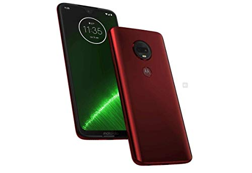 "Moto G7+ Plus (64GB, 4GB RAM) Dual SIM 6.2"" 4G LTE (GSM Only) Factory Unlocked Smartphone International Model XT1965-2 (Red) (Renewed)"