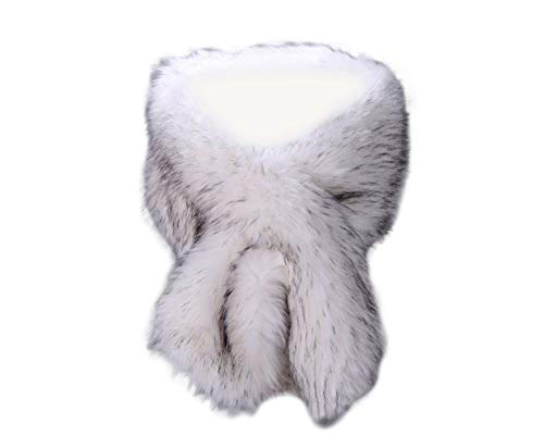 dc6efd3be1c Kevins Bridal Women s Faux Fur Shawl Wraps Cloak Coat Sweater Cape for Evening  Party - Buy Online in Oman.