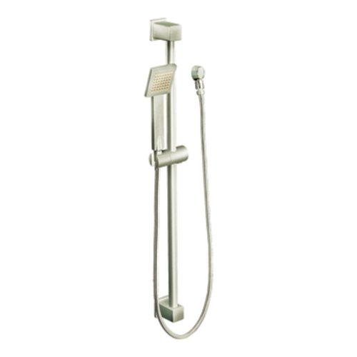 Moen S3879EPBN 90 Degree Eco-Performance Handheld Showerhead with 69-Inch-Long Hose Featuring 30-Inch Slide Bar, Brushed Nickel