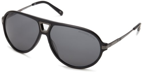 Carrera CA7014S Polarized Rectangular Sunglasses,Matte Black,61 mm
