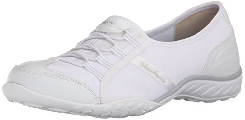 Skechers Sport Women's Breathe Easy Allure Fashion Sneaker, White, 8.5 M US