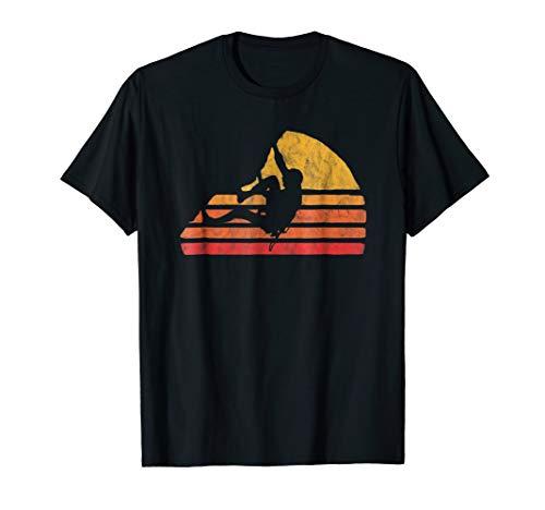 Bouldering - Distressed Retro Rock Climbing T-Shirt