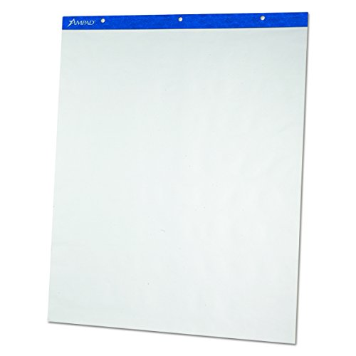 Ampad 24028 Flip Charts, Unruled, 27 x 34, White, 50 Sheets (Pack of 2)