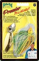 Strike King Premier Pro-Model Spinnerbait - Colorado/Willow (Fire Tiger/Silver-Gold Blades, 0.375-Ounce)