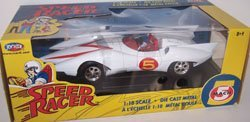Joyride 1/18 Scale Diecast Metal Speed Racer Mach 5 Car (5 Mach Racers Toy)