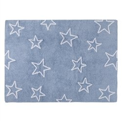 Lorena Canals Stars Silhouette 100% Cotton Machine Washable Rug (Blue) by Lorena Canals