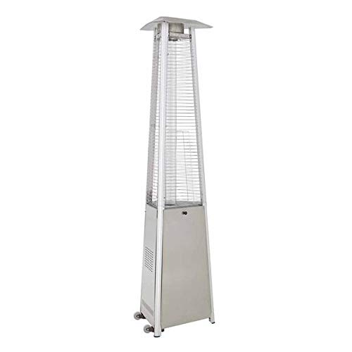 Fireplace Classic Parts Patio Heater 94'' Tall Triangle Glass Tube Heater-Stainless Steel FCPHLDS01-CGTSS by Fireplace Classic Parts