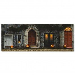 Halloween Doors Lighted Canvas Wall Art - Holiday wall decor - holiday home wall art decor