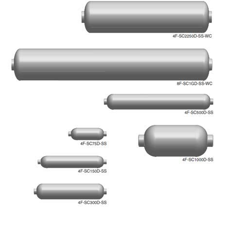 Double-End 300 cc Volume Parker Hannifin Corporation Parker Hannifin 4F-SC300D-SS Stainless Steel Sample Cylinder