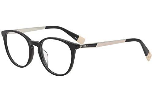Furla Women's Eyeglasses VFU088 VFU/088 0700 Black Full Rim Optical Frame 50mm