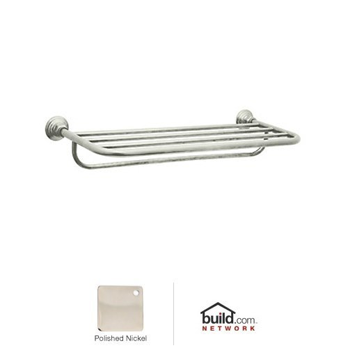 Rohl ROT10PN 23-1/2-Inch W by 11-Inch D Country Bath Hotel Style Towel Rack in Polished Nickel