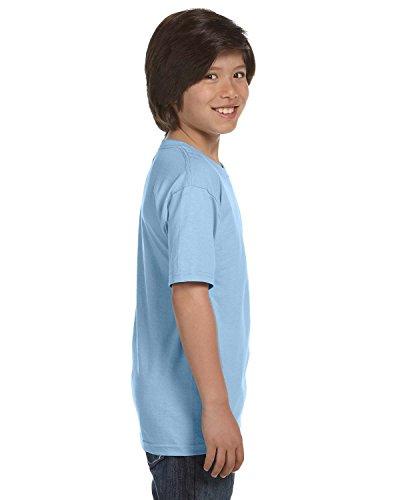 Gildan 50-50 Youth Short-Sleeve T-shirt  Tee Small Light Blu