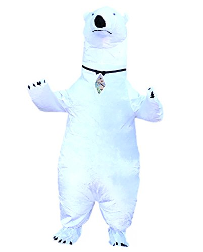Chub Inflatable Blow up Full Body Suit Jumpsuit Costume (Polar Bear) ()