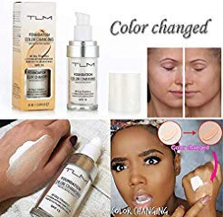 TLM Flawless Colour Changing Foundation Makeup Warm Skin Tone Foundation Makeup Base Nude Face Moisturizing Liquid Cover Concealer for Women Girls