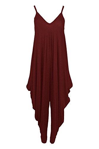 Lagenlook Femmes Cami Bouffant ® Strappy Du Robe Jumpsuit Vin Harem Girlzwalk cTlF3JK1