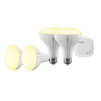 Sengled Element Classic Smart Home Lighting Starter Kit with Control Hub and 2PCS 60W Equivalent Smart LED A19 Bulbs, Works with Amazon Alexa, 3 Year Warranty