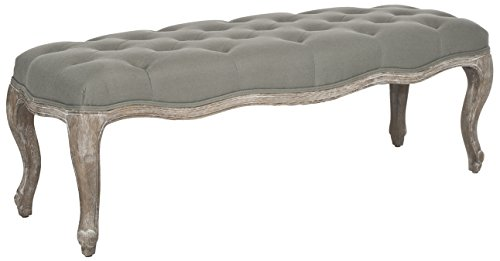 Safavieh MCR4577G Mercer Collection Ramsey Bench, Sea Mist