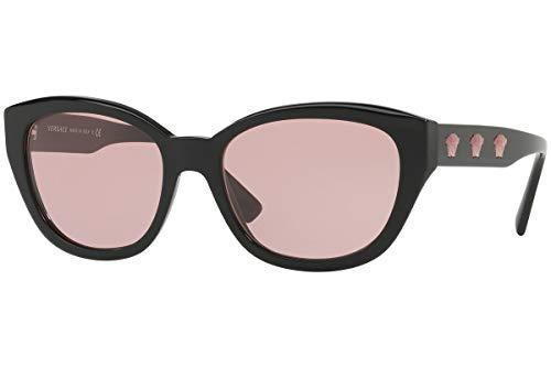 Versace VE4343 Sunglasses Black w/Light Violet Lens 56mm GB184 VE 4343 (Versace On Line)
