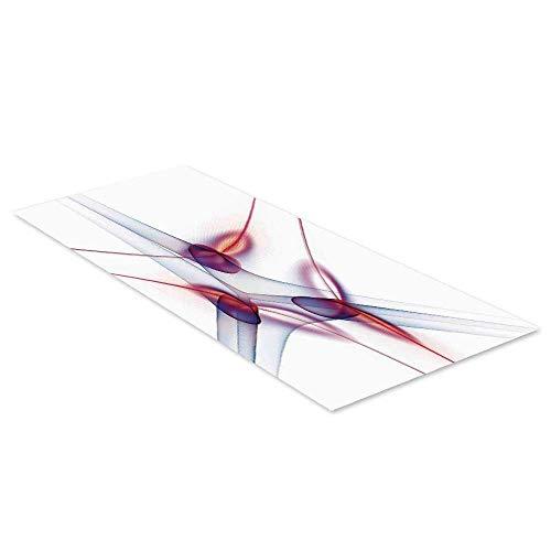 C COABALLA Spires Decor Waterproof Floor Sticker,Contemporary Graphic of Artisan Spiral Molecular Wavy Scientific Cell Print for Kitchen Living Room,35.4