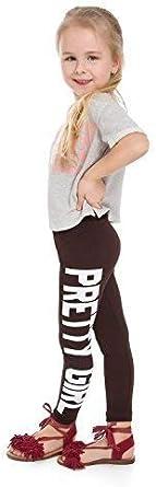 FUTURO FASHION DZPRT f/ête//danse inscription /« Pretty Girl /» coton extensible//confortable Legging long pour enfant tailles 5 /à 13 ans