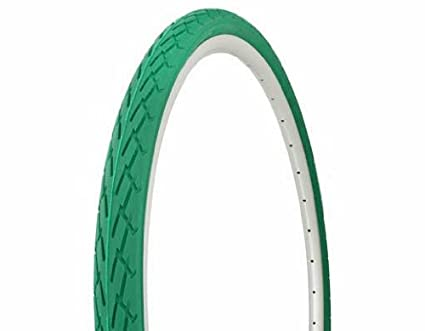 TWO 700x25C DURO BICYCLE TIRES GREEN /& 2 TUBES ROAD FIXIE TRAC BIKES 2