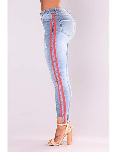 Color Active Solid Light Blue White YFLTZ Blue Femmes Pantalons amp; Jeans Gland qTHEnawxX